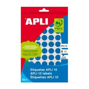APLI Etikett, 16 mm kör, kézzel írható, színes, APLI,