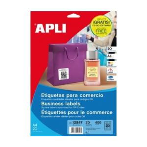 APLI Etikett, információs, 45x45 mm, APLI, 400 etikett