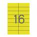 APLI Etikett, 105x37 mm, színes, APLI, sárga, 1600 eti