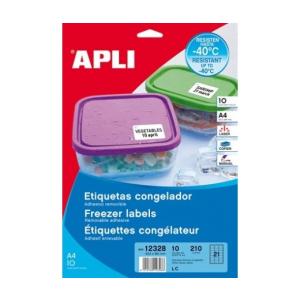 APLI Etikett, 63,5x38,1 mm, fagyasztható, kerekített s