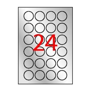 APLI Etikett, 40 mm kör, poliészter, időjárásálló, APL
