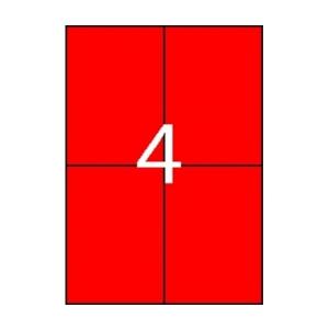 APLI Etikett, 105x148 mm, színes, APLI, piros, 80 etik