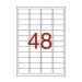 APLI Etikett, 45,7x21,2 mm, poliészter, időjárásálló,