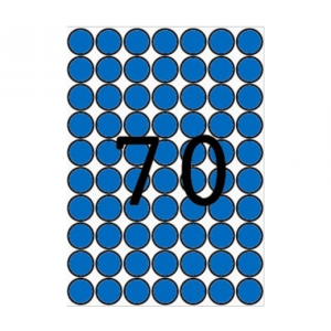 APLI Etikett, 19 mm kör, színes, A5 hordozón, APLI, ké