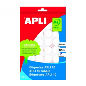 APLI Etikett, 32 mm kör, kézzel írható, APLI, 150 etik