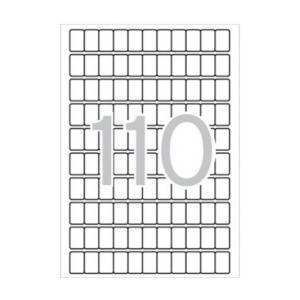 APLI Etikett, 12x18 mm, kerekített sarkú, A5 hordozón,