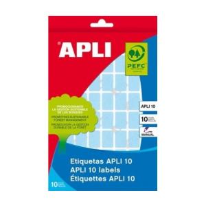 APLI Etikett, 12x18 mm, kézzel írható, színes, kerekít