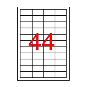 APLI Etikett, 48,5x25,4 mm, poliészter, időjárásálló,