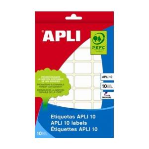 APLI Etikett, 20x50 mm, kézzel írható, kerekített sark