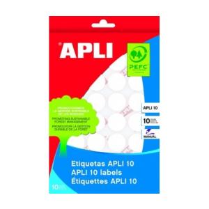 APLI Etikett, 10 mm kör, kézzel írható, APLI, 1260 eti