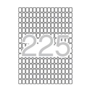APLI Etikett, 8x12 mm, kerekített sarkú, A5 hordozón,