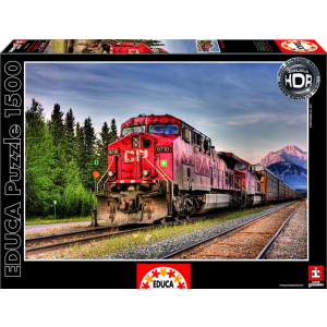 Educa Educa 1500 db-os HDR puzzle - Pacific train - Kanada (15546)