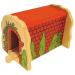 Bigjigs - piros téglás vasúti alagút