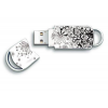 Integral USB Xpression 8GB  black & white flower pattern INFD8GBXPRFLO