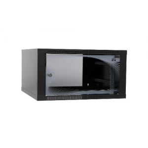Apra -optinet ecoVARI fali szekrény 19\'\' 6U/400mm egyszekciós üveg a.