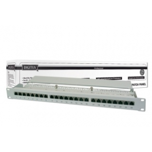 Digitus 19\'\' CAT6 24-portos STP patch panel