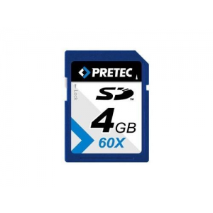 Pretec SecureDigital SD 4GB 60x HighSpeed nie SDHC (transzfer 9MB/s-ig)