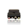 Gembird adapter SCART csatlakozó / 3 RCA jack és 1 S-Video jack kapcsolóval
