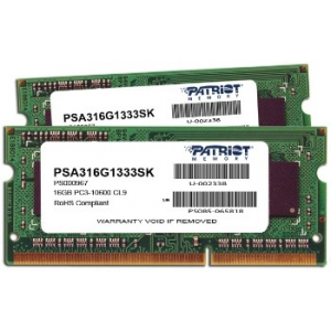 Patriot Signature Apple 2x8GB DDR3 1333MHz CL9 SODIMM 1.5V