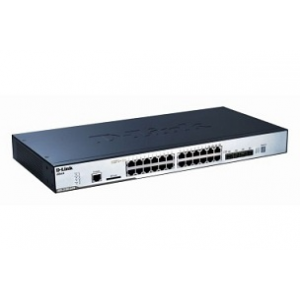D-Link 24-port 10/100/1000 Layer2 Stackable PoE Gigabit Switch Combo 1000T/SFP