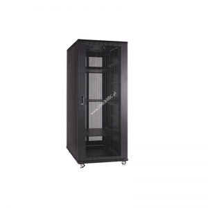 Linkbasic rack cabinet 19 27U 600x1000mm black (perforated steel front door)