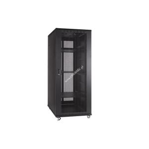 Linkbasic rack cabinet 19 27U 600x1000mm black (perforated steel front door)