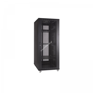 Linkbasic rack cabinet 19 22U 600x600mm black (perforated steel front door)