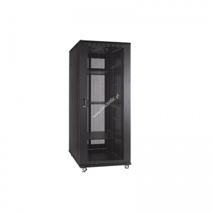 Linkbasic rack cabinet 19 27U 600x800mm black (perforated steel front door)