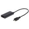 Gembird adapter MHL -> HDMI(F)+MICRO USB(BF)(5pin)smartfon to TV HD+power supply