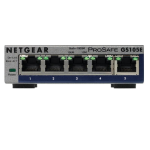 Netgear ProSafe Plus 5-Port Gigabit Desktop Switch (GS105E V2)