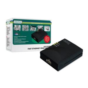 Digitus Fast Ethernet nyomtató szerver USB  1 x port