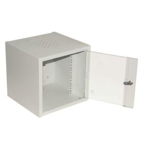 Assmann fali szekrény 10\'\' 4U 315x232x300 üvegajtó RAL7035