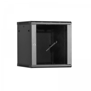 Linkbasic rack wall-mounting cabinet 19 15U 600x450mm black (glass front door)