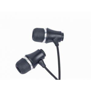 Gembird Stereo Earphones MP3 gold-plated 3.5mm Jack Metal Black