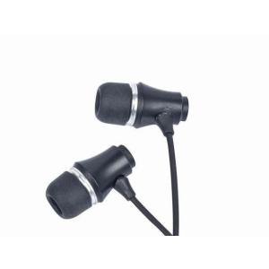 Gembird Stereo Earphones MP3  gold-plated 3.5mm Jack  Metal  Black