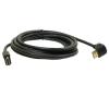 Qoltec HIGH SPEED HDMI kábel  Ethernet  AM/AM  90fok  1.3m  B  GOLD