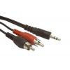 Gembird audio kábel Jack 3.5mm apa / 2x RCA (CINCH) apa  5m