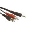 Gembird audio kábel Jack 3.5mm apa / 2x RCA (CINCH) apa  5m