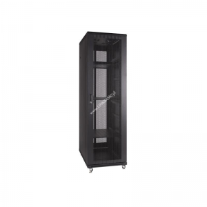 Linkbasic rack cabinet 19 37U 600x800mm black (perforated steel front door)