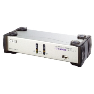 ATEN CS1742 2-Port USB Dual View KVMP Switch (2xVGA cards) 2-port USB Hub  Audio