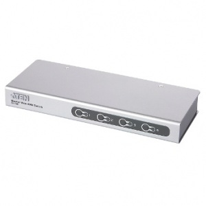 ATEN CS74E 4-Port PS/2 KVM Switch 4x Cables (1.2m/1.8m 50cm con.) Non-powered