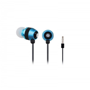 Gembird Stereo metal earphones with microphone and volume control  blue