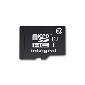 Integral memory card micro SDHC 16GB CL10 + SDHC adapter (transfer up to 40MB/s)