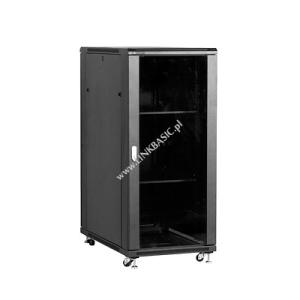 Linkbasic álló szekrény 19 27U 600x1000mm fekete