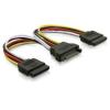 Qoltec SATA kábel elosztó  SATA M / 2*F  50cm