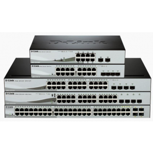 D-Link 8-port 10/100/1000 Gigabit PoE Smart Switch incl. 2 Combo 1000BaseT/SFP
