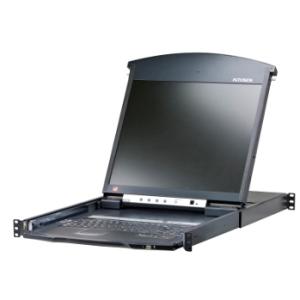 ATEN ALTUSEN KVM 8-port Hight Density Dual Rail LCD17\'\' + Keyboard + Tuchpad  19\'\' 1U