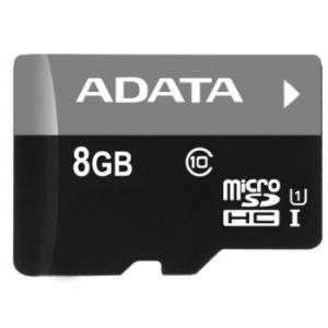 ADATA Micro SDHC 8GB CLass10 kártya + SDHC Adapter