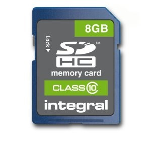 Integral SDHC 8GB CLASS10 - AVERAGE TRANSFER 20MB/s