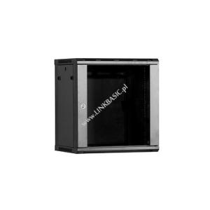 Linkbasic fali szekrény 19 6U 600x450mm fekete
